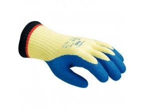 Kevlarové rukavice Ansell Powerflex Plus 80-600 polomáčené v latexu, vel. 8