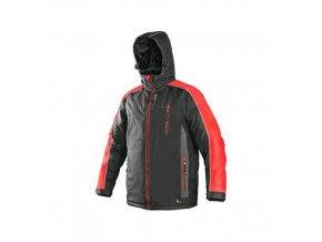 Bunda CXS BRIGHTON, zimní, šedo-červená, vel. 4XL