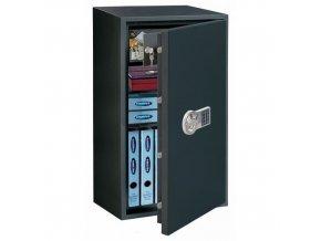 Nábytkový trezor Power Safe s elektronickým zámkem, bezpečnostní třída S2 + dárek LED senzorové světlo, 80 x 44,5 x 40 cm