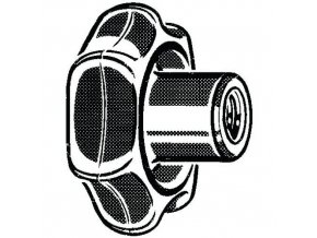 Hvězdicová rukojeťtyp K DIN 6336 K Plast Fenolformaldehyd (bakelit) FS31 M12X80