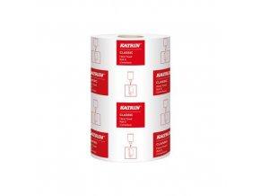 Papírové ručníky Katrin Classic S2 2vrstvé, 261 útržků, bílé, 12 ks