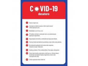 Desatero zásad ochrany proti virové nákaze, plast, 297 x 210 x 0,5 mm, A4