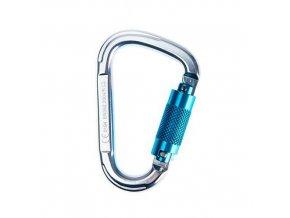 Karabina hliníková Twist Lock, stříbrná