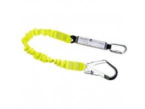 Elastické lano s tlumičem pádu, žlutá