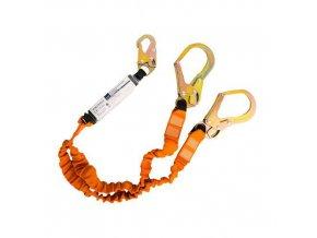 Dvojité lano s tlumičem 140kg, černá/oranžová