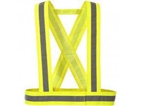 Hi-Vis křížové popruhy, žlutá