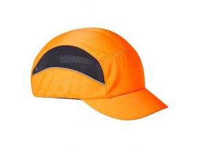 Kšiltovka s výztuhou AirTech, oranžová