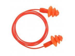 Ušní zátky TPR pro opakovatelné použití (50 párů), oranžová