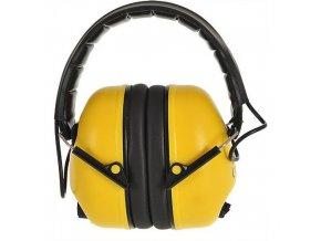 Elektronický mušlový chránič, žlutá