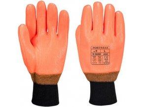 Hi-Vis rukavice Weatherproof, oranžová, vel. XL