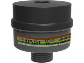 Kombinovaný filtr ABEK2P3 Universal Tread, černá