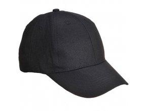 Basebalová čepice Six Panel, černá