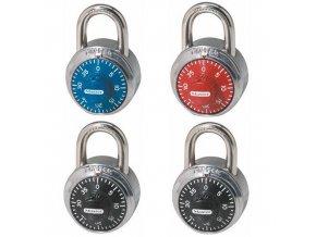 Kombinační visací zámek Master Lock 48mm, mix barev, 4ks
