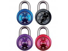 Kombinační visací zámek Master Lock 38mm, mix barev, 4ks