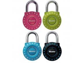 Kombinační visací zámek Master Lock 49mm, mix barev, 4ks