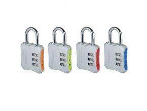 Kombinační visací zámek s unikátním designem Master Lock, mix barev, 4ks