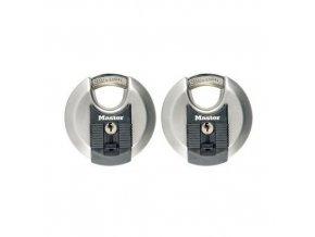 Set diskových visacích zámků Master Lock Excell 70mm, 2ks
