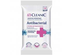 Antibakteriální vlhčené ubrousky Cleanic, 24 ks