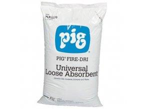 Nehořlavý přírodní sypký sorbent Pig, univerzální, sorpční kapacita 15 l, 6 kg