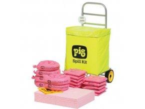Mobilní havarijní souprava Pig, chemická, sorpční kapacita 54 l