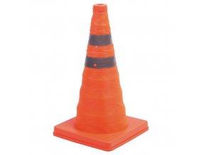 Skládací reflexní dopravní kužel Manutan K3, 45 cm, oranžový