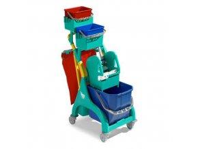Úklidový vozík s pákovým ždímačem TTS, objem 25 l