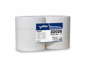 Toaletní papír Jumbo role Celtex Comfort 2vrstvy, 6ks
