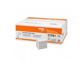 Toaletní papír Celtex S-Plus L skládaný 2vrstvy bílý, 9000ks