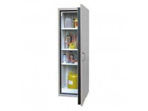 Žáruvzdorná skříň na nebezpečné látky, 595 x 598 x 1 935 mm, šedá/šedá