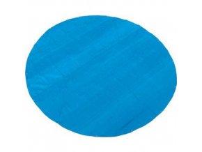 TOPTRADE plachta krycí, modrá, s kovovými oky, kulatá, průměr 3,6 m, 150 g / m2, profi