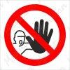 Zákazová bezpečnostní tabulka - Nepovolaným vstup zakázán, 92 x 92 mm