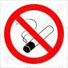 Zákazová bezpečnostní tabulka - Zákaz kouření, 92 x 92 mm