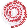 Plastový řetěz k zahrazovacím sloupkům Manutan, 25 m, červený/bílý