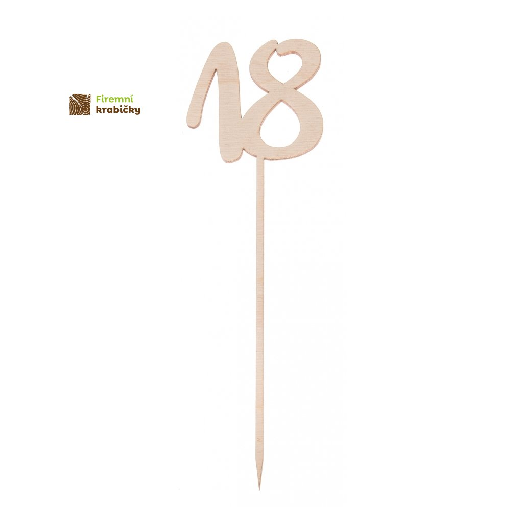 liczba 18 drewniana na piku
