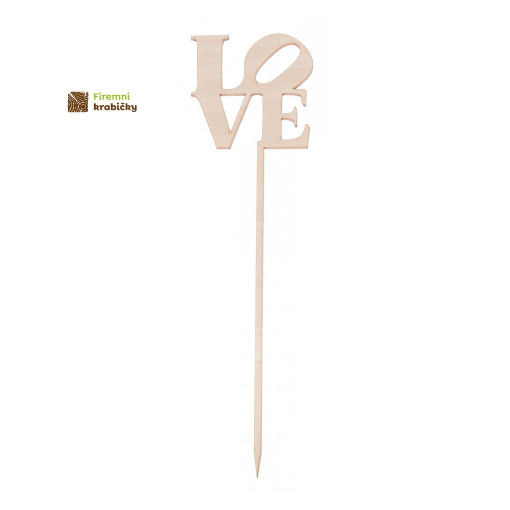 napis drewniany love na piku