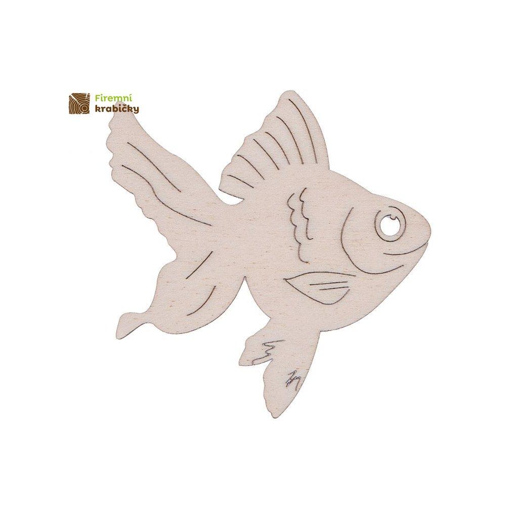 drewniana rybka