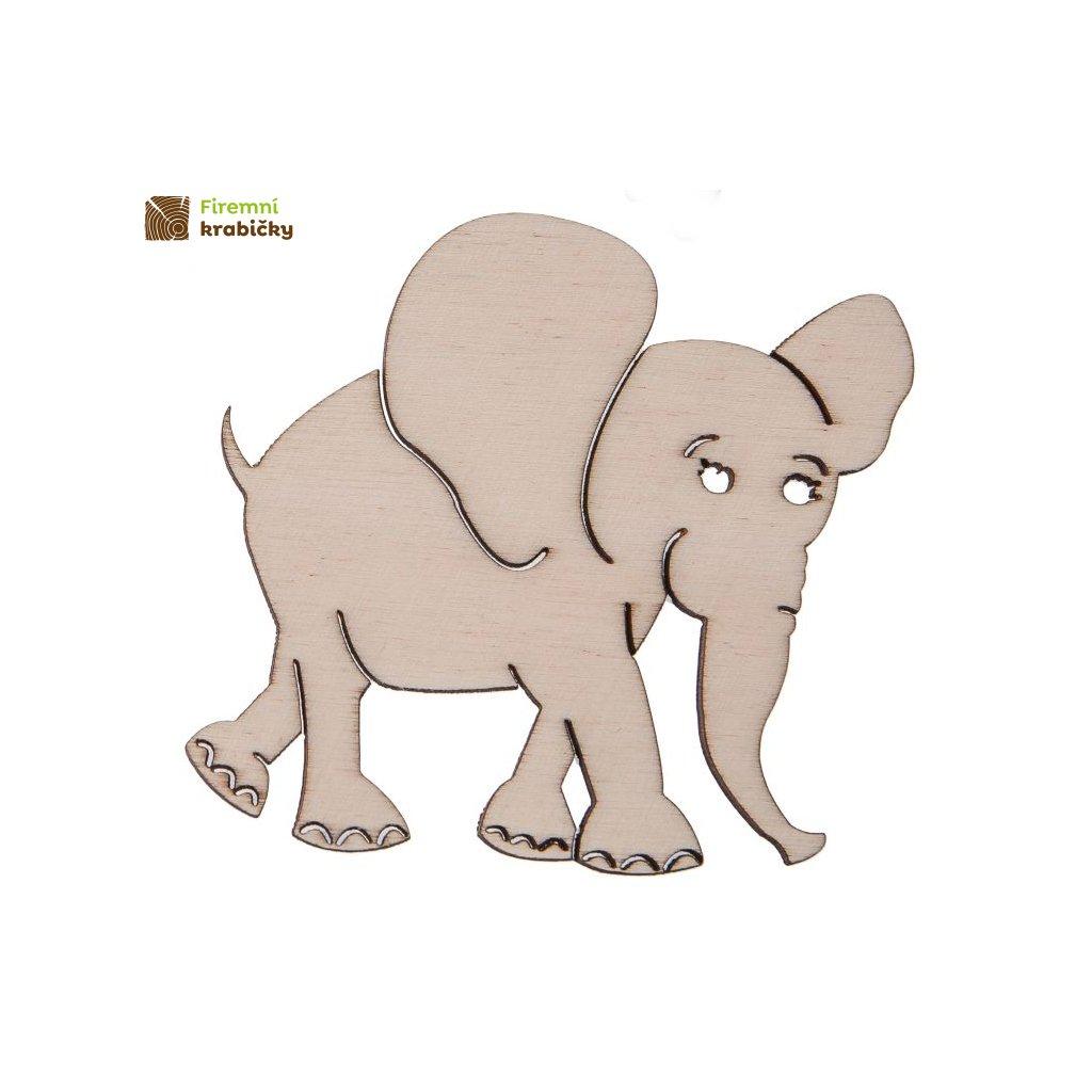 drewniany slonik