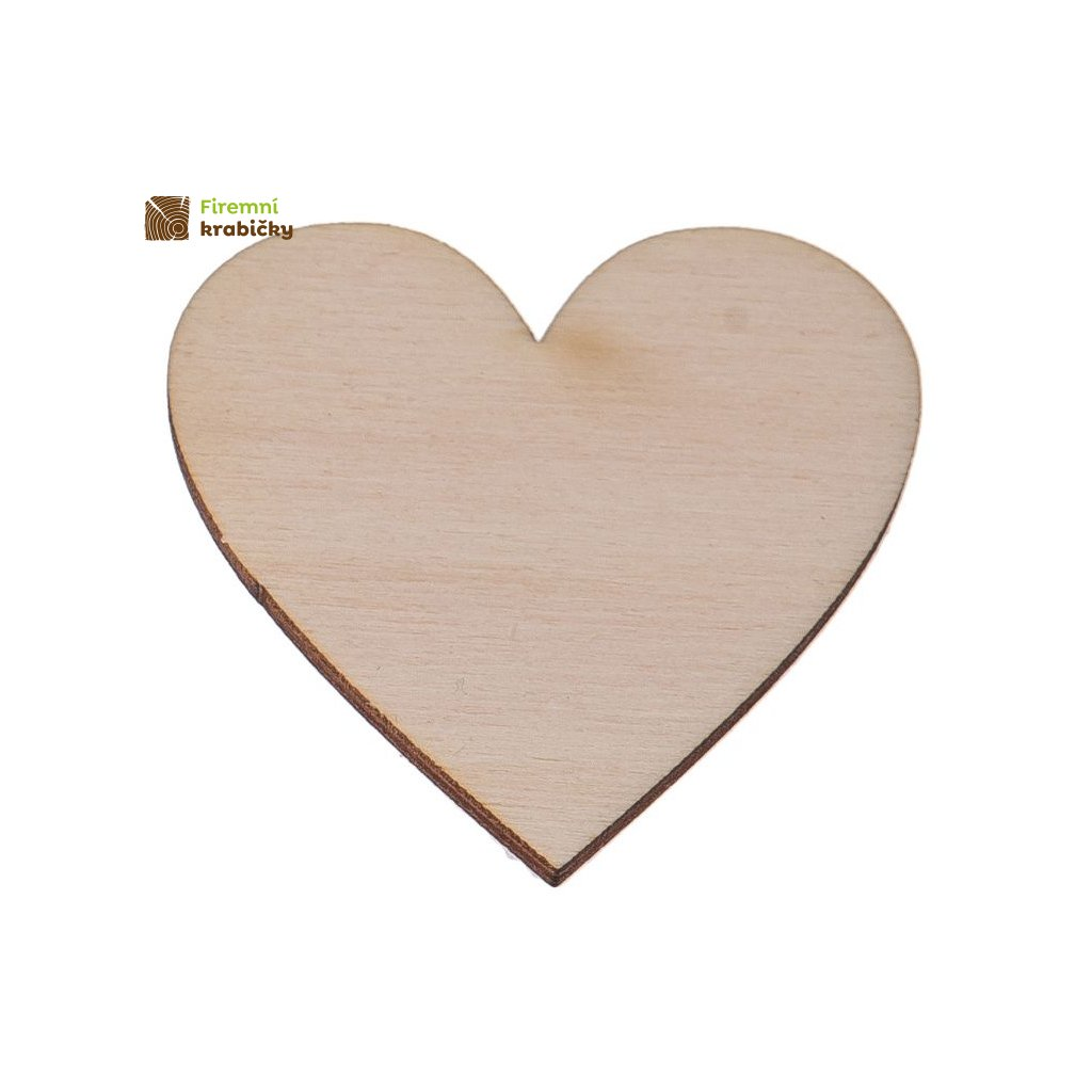 drewniane serce 4x4 cm 1 szt