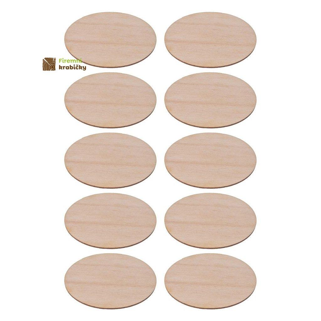 drewniana elipsa 35x55 cm 10 szt