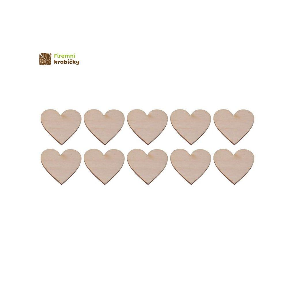 drewniane serce 3x3 cm 10 szt