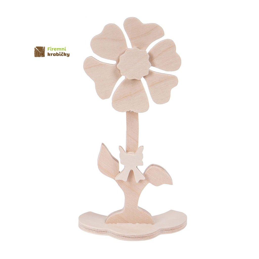 drewniany kwiatek 3