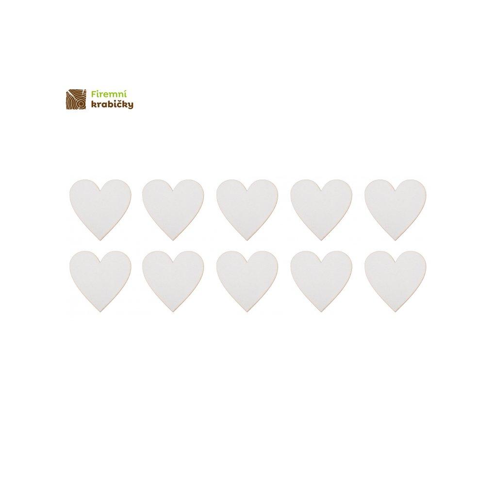 biale serce 5x5 10 sztuk