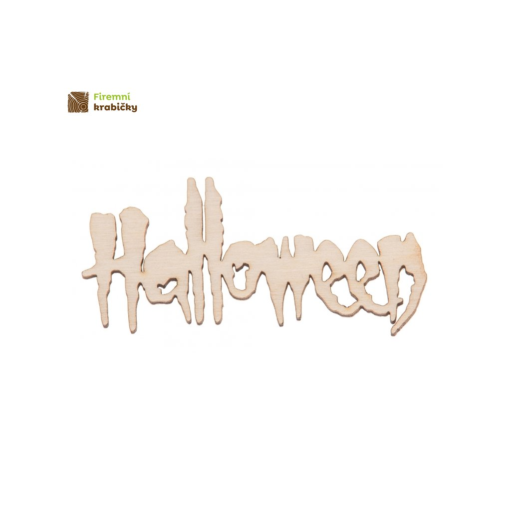 napis hallowen ozdoba ze sklejki