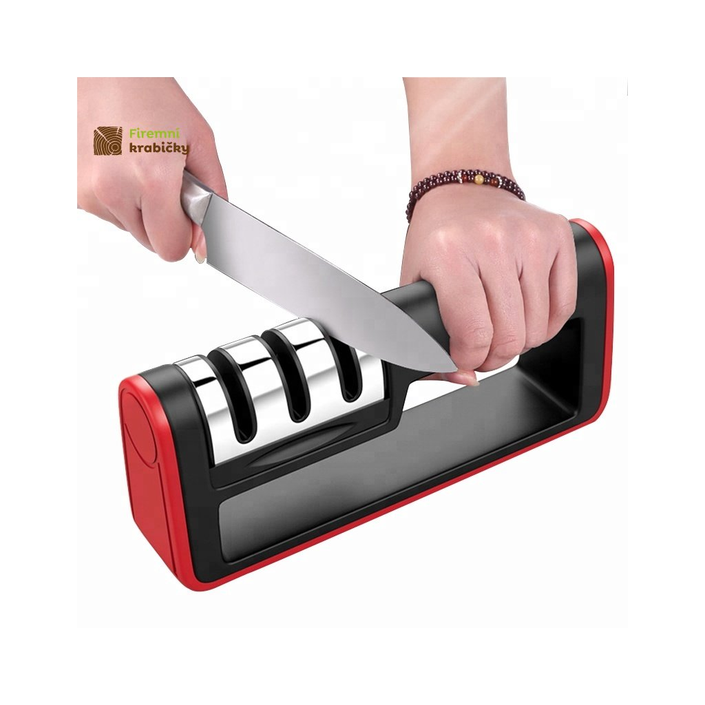 3 Stage kitchen Handheld knife sharpener for