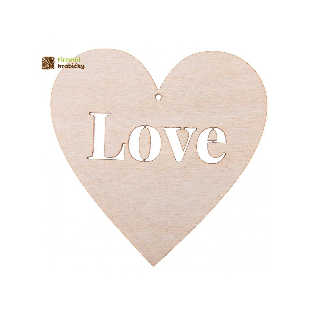 drewniane serce 10x10 love