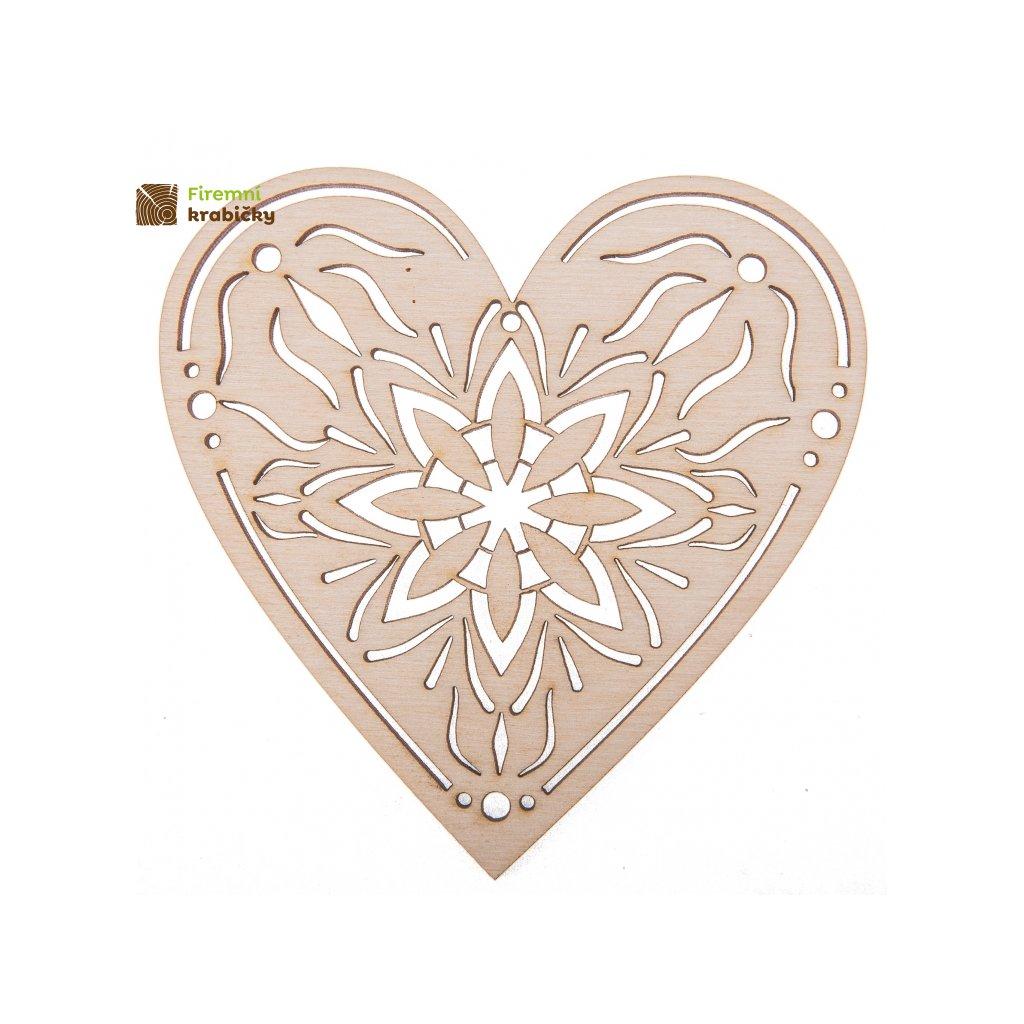 drewniane serce azur 1 10x10cm zawieszka