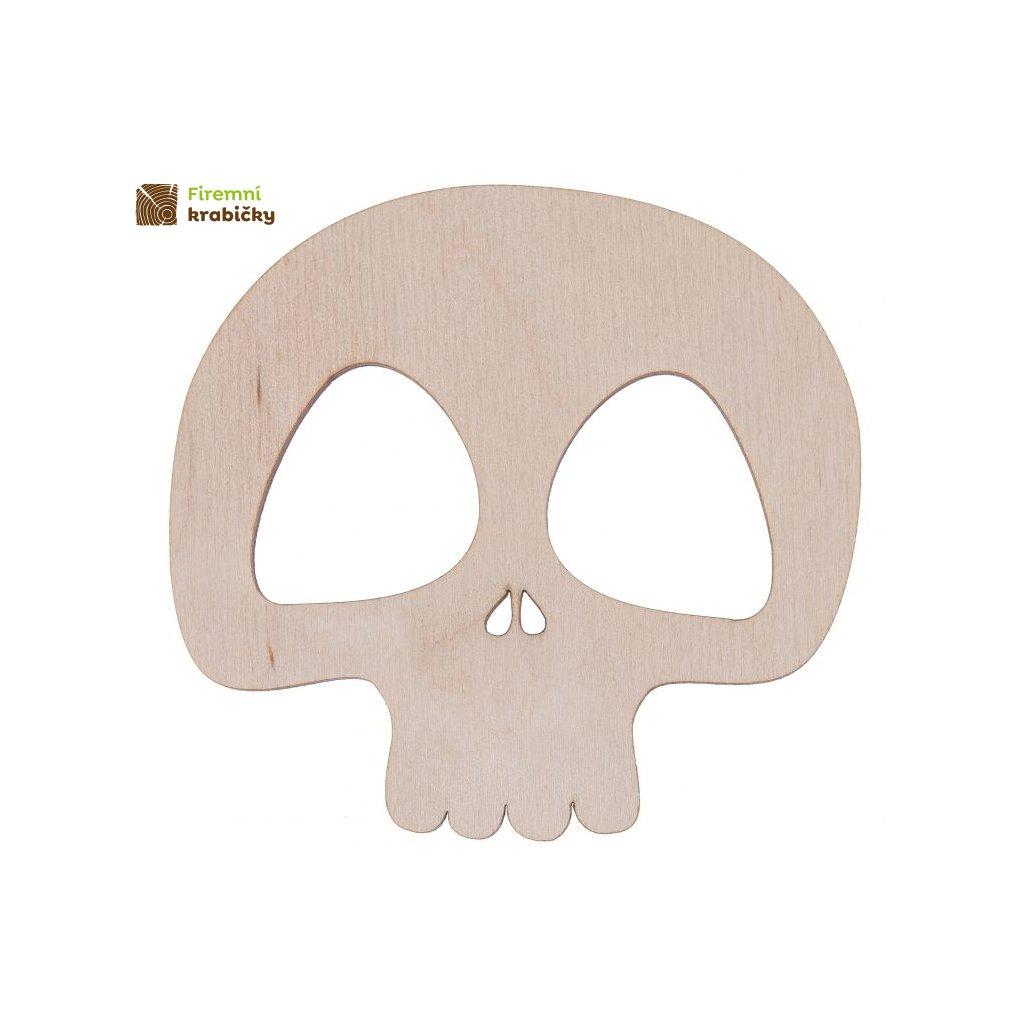 drewniana czaszka