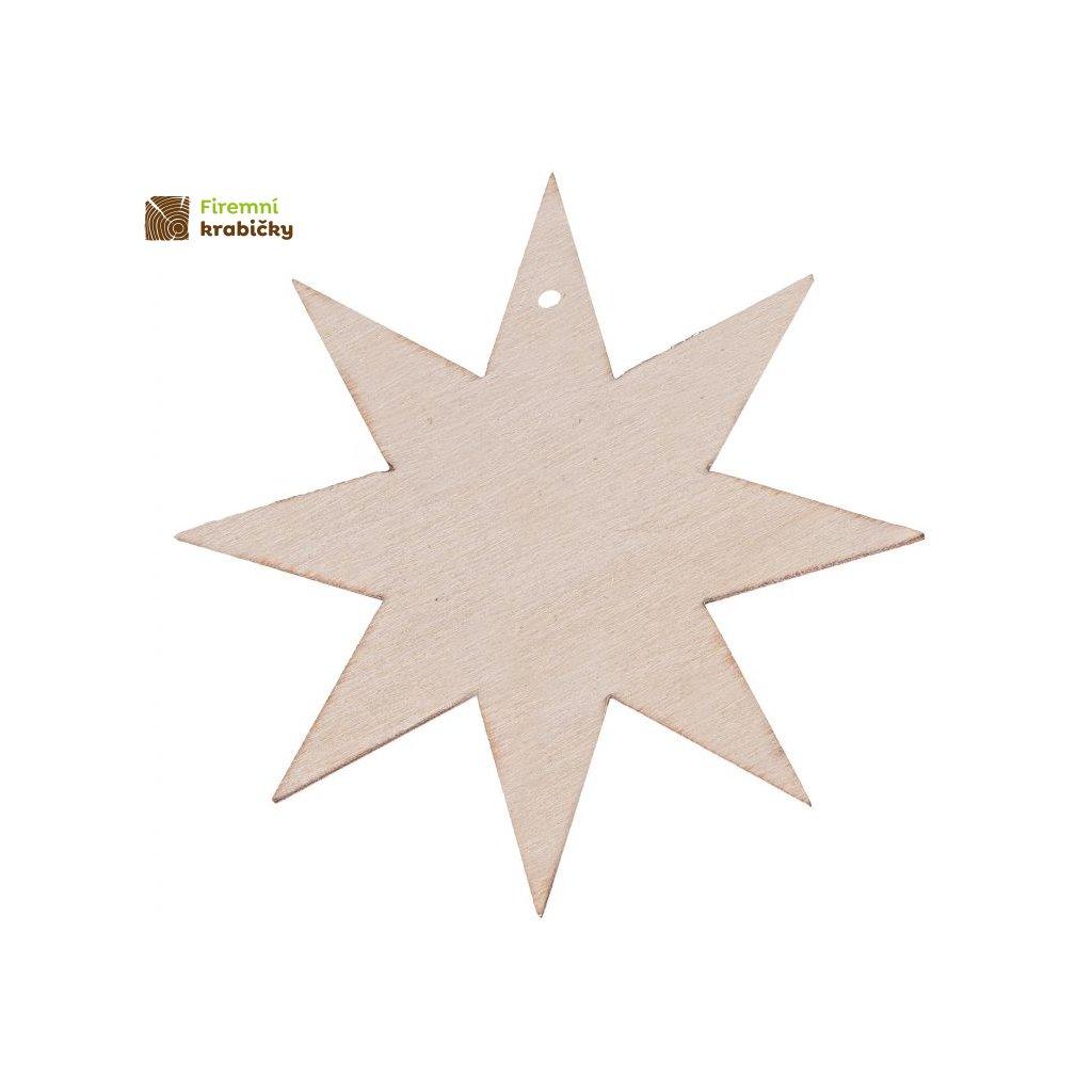 zawieszka gwiazdka 8ramienna 7cm s14