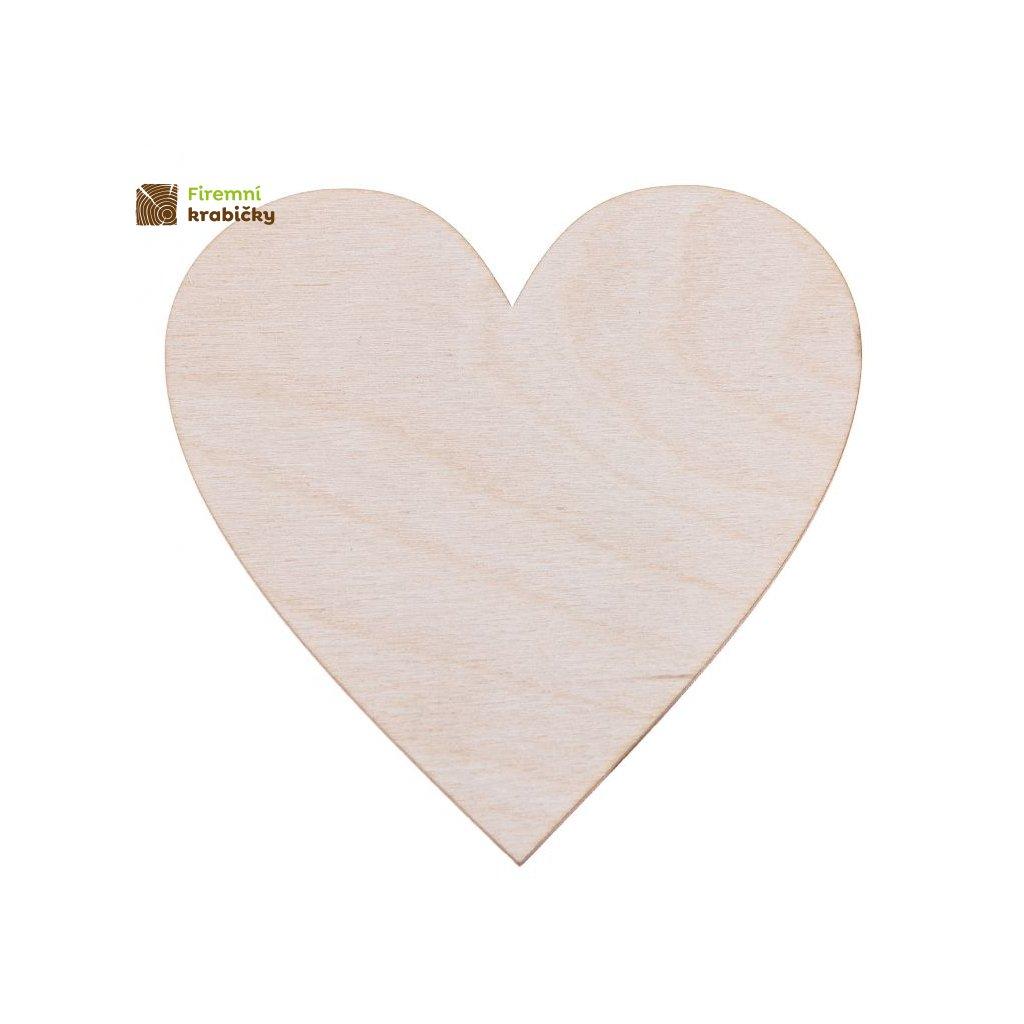 drewniane serce 10x10 cm