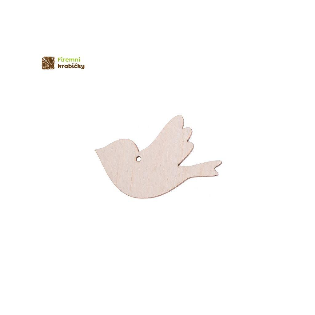 drewniany ptaszek 4 zawieszka